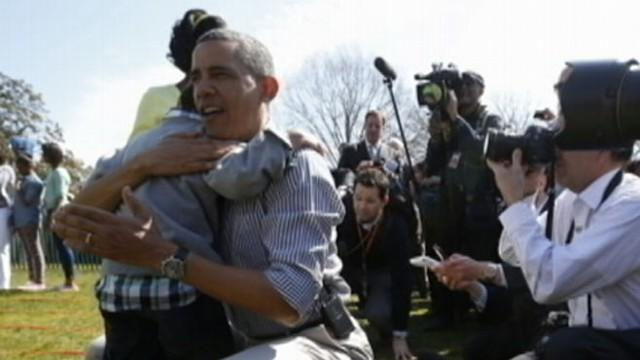 President Obama Consoles Kid at Easter Egg Roll