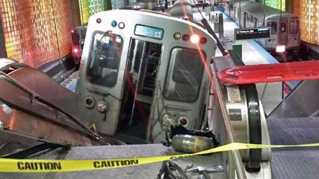 TIRED DRIVER SLAMS TRAIN INTO O'HARE