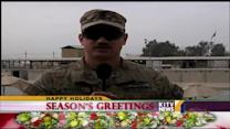 Military seasons greetings from Sgt. 1st Class Alika Naluai