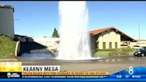 Truck backs into fire hydrant in Clairemont Mesa
