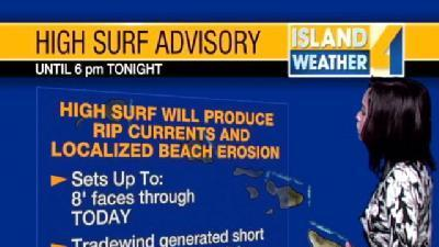 High Surf Advisory Posted On This Thursday
