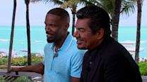 George Lopez, Jamie Foxx Talk Working 'Rio 2' Together