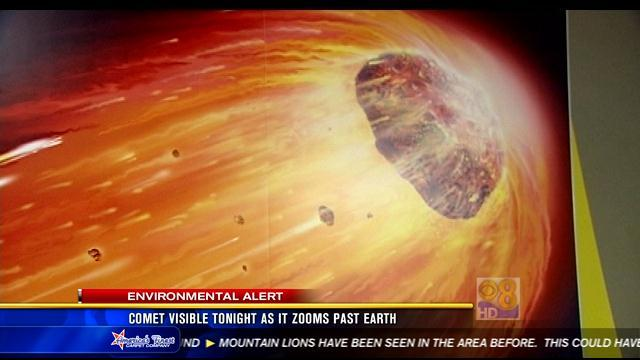 Comet visible Tuesday night as it zooms past Earth