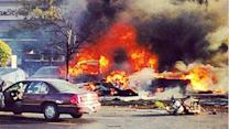 1 dead, 1 hospitalized after small plane crashes in Bolingbrook parking lot