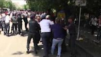 Police Clear Electricity-Price Protesters From Yerevan Camp