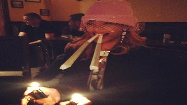 Rihanna Poses With Roll Up's In Amsterdam