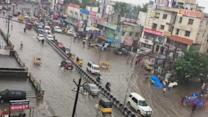 Vehicles Drive Through Flood in Chennai