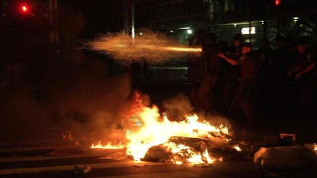 Police, protesters clash in Rio