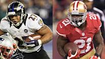 Ray Rice, Frank Gore in key Super Bowl battle