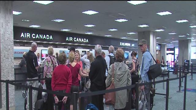 Travelers stranded at TIA