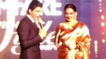 SRK's 'foreplay' comment leaves Rekha red faced