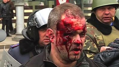 Raw: Pro-Russia Protest in Ukraine Turns Bloody