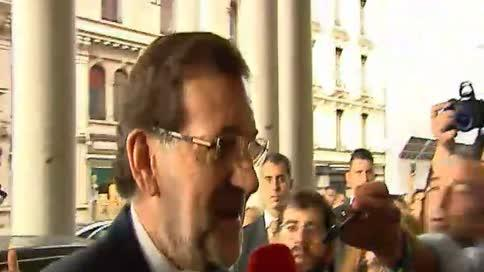 Rajoy, optimista con la candidatura de 'Madrid 2020'
