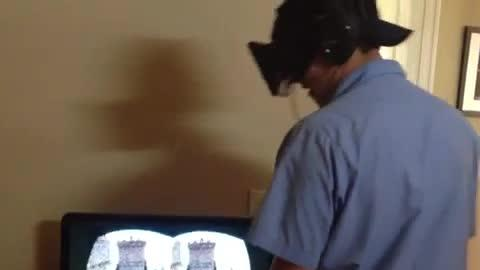 Virtual Reality Too Real For This Guy!