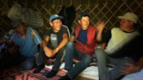 Kyrgyz shepherds cheer for World Cup from afar