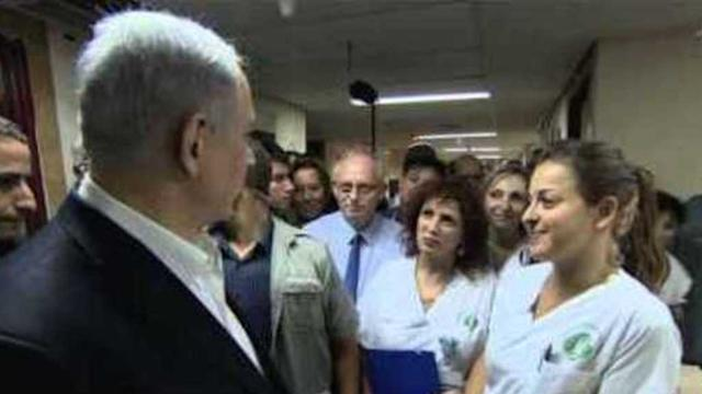 Netanyahu Visits Wounded Israeli Soldiers as Ceasefire Broken