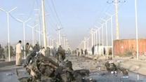 Raw Video: Afghan Insurgents claim suicide bomb