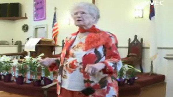 Woman celebrates 100th birthday by rapping