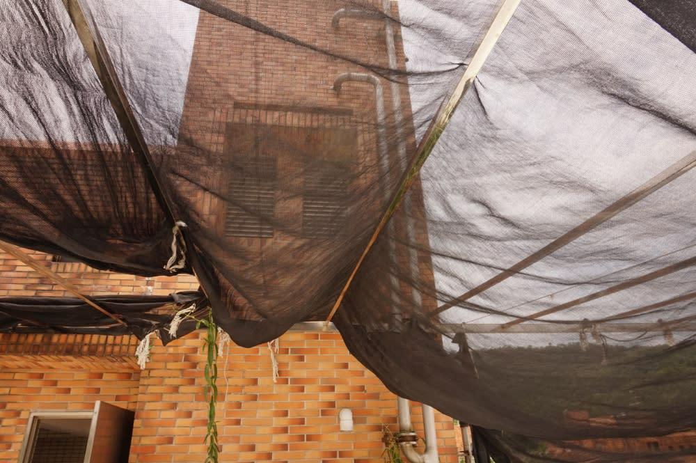 黑網是頂樓住家遮光的好幫手,利用空氣對流帶走熱氣。