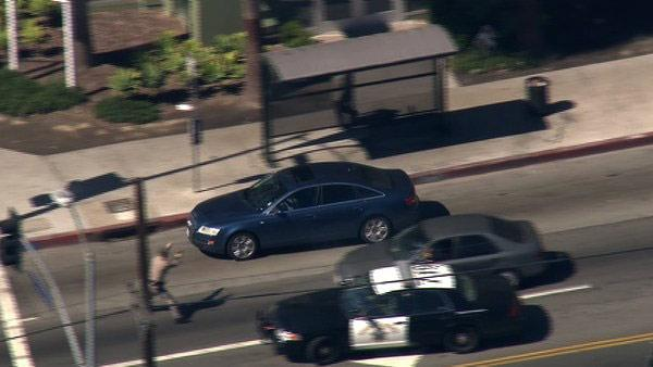 Downtown LA police chase: 3 alleged burglary suspects in custody