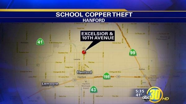 Copper wire thieves target South Valley school