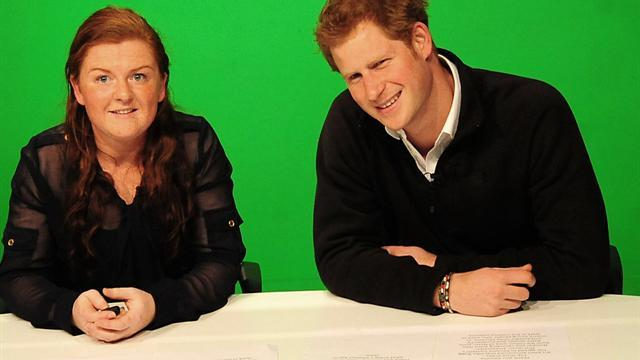 Prince Harry plays DJ, newsman for a day