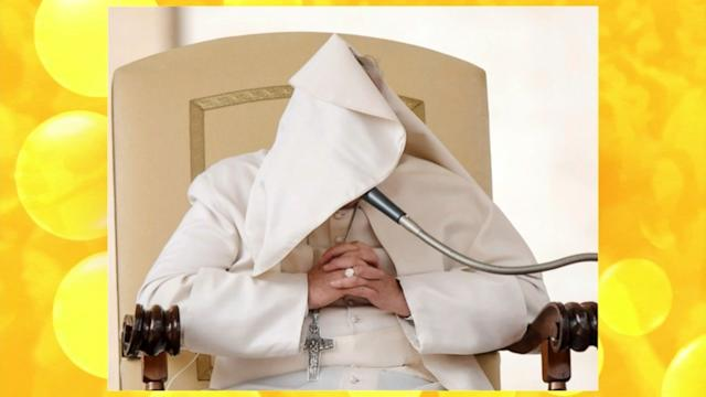 Pope Francis Battles Windy Weather