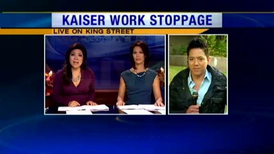 Kaiser workers hold one day work stoppage pt. 2