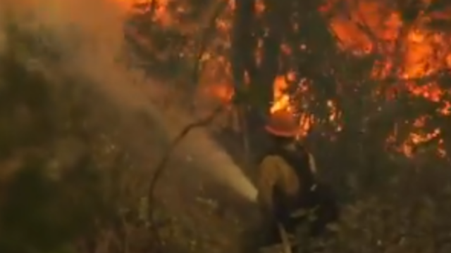 Firefighters Save Homes From El Dorado Fire As Wind Fans Flames