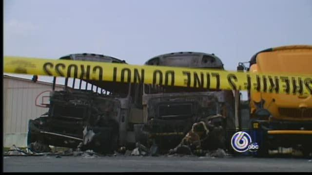 Fire Destroys New School Buses