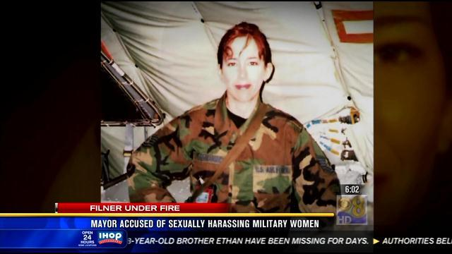 Mayor accused of sexually harassing military women