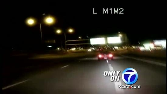 High-speed chase caught on video