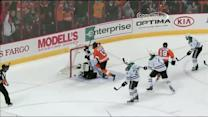 Simmonds buries the rebound on own deflection