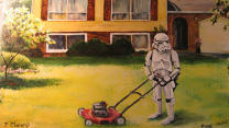 Artist Remixes Thrift Store Paintings