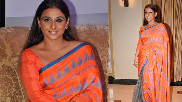 Vidya Balans Orange Saree Yay Or Nay