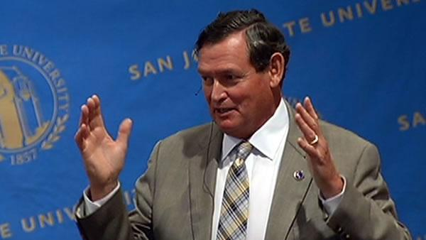 CSU Chancellor Tim White visits SJSU campus