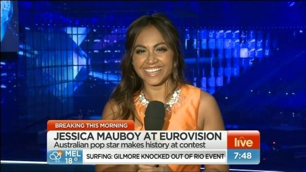 Jessica Mauboy sings at Eurovision