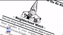 KKK Members Tell Residents `They`re Watching Out For Them`