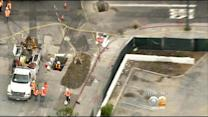 Crews Repair Damaged Gas Line In Mid-Wilshire District