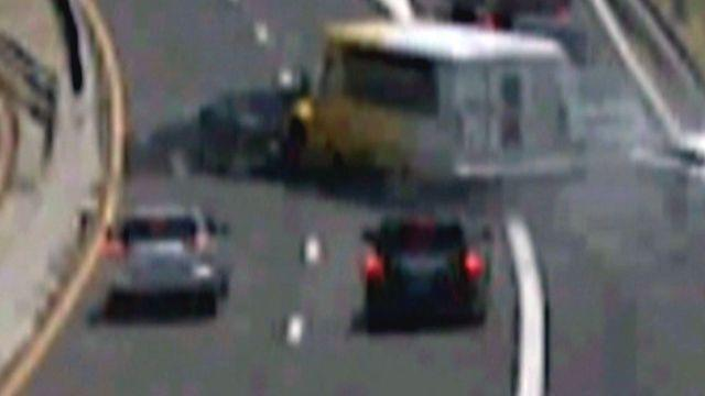 Across America: Bus slams into line of cars in Dallas