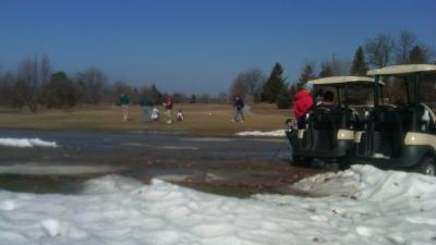 Golfers Can't Resist Warm Day