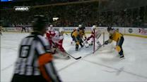 Cody Hodgson goes around Jonas Gustavsson