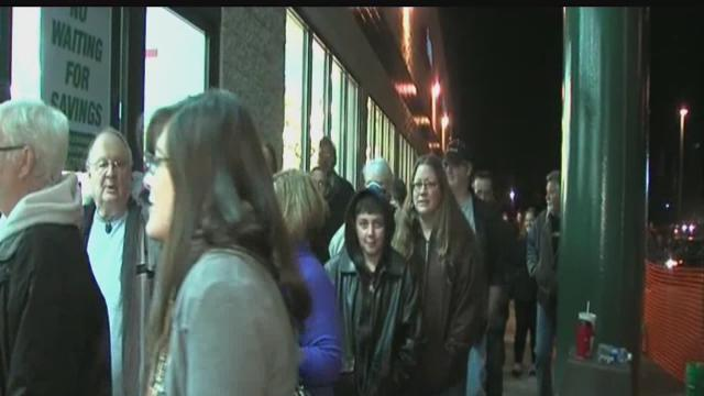 Black Friday shoppers pile into Indianapolis Menards