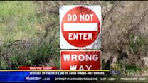 Stay out of the fast lane to avoid wrong-way drivers