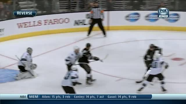 Jarret Stoll scores on the deflection