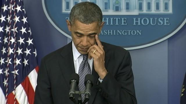 Newton, Connecticut Shooting: Obama Tears up in Emotional Statement