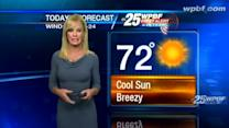 First Alert Forecast: Autumn-like Monday on tap