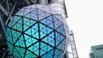 Times Square's hi-tech New Year's ball drop