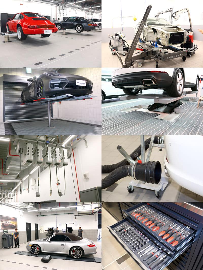 全空調的維修廠導入全球最頂尖機台與工具,更有台灣最先進的鋁合金車體修復室。
