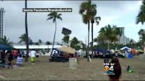 Waterspout Bounces Bounce House On Ft. Lauderdale Beach